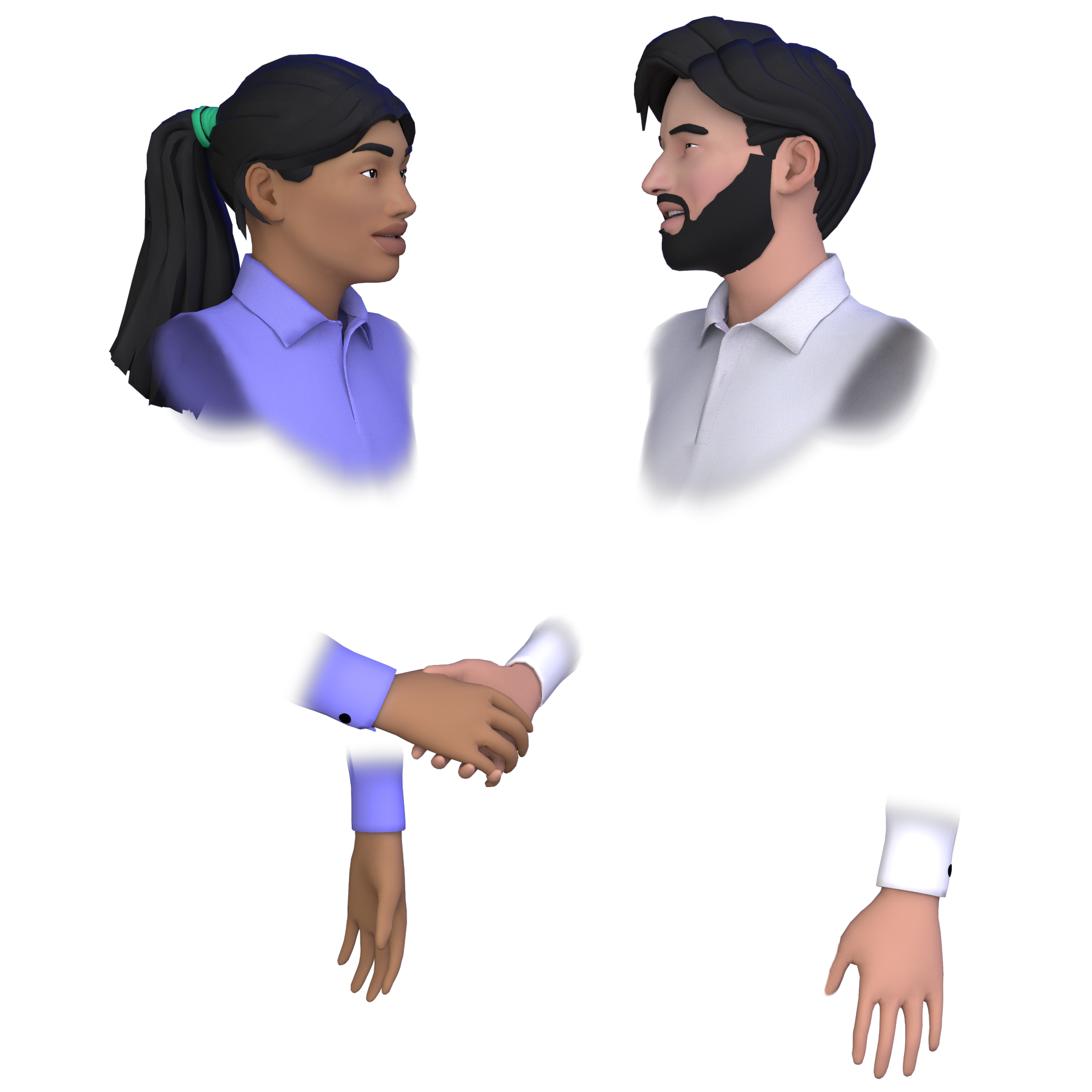 meetinVR Handshake between avatars
