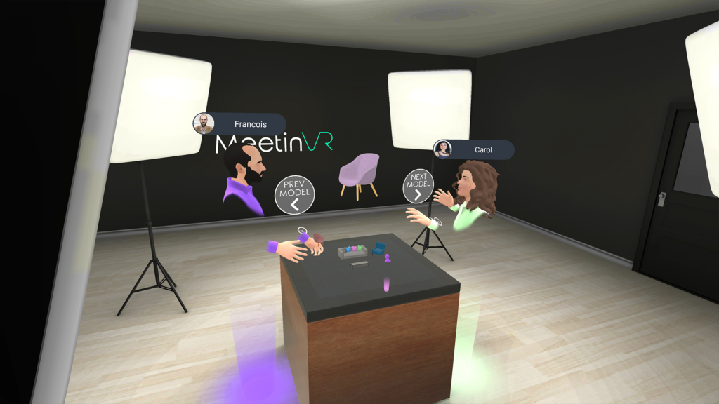 3D VR room for working with 3D models
