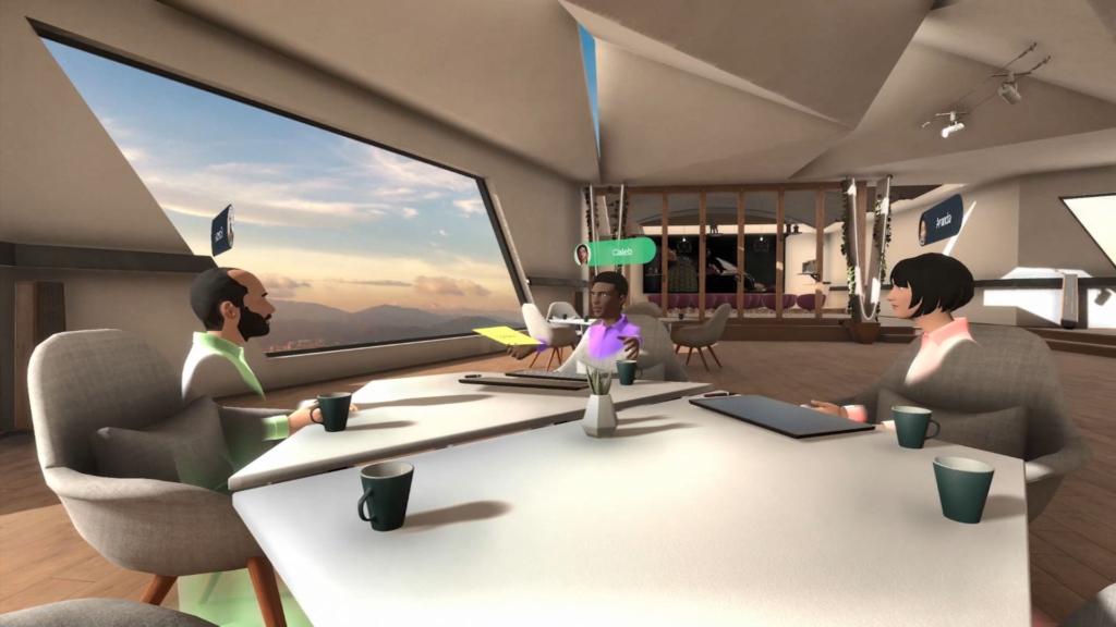 the workshop VR room
