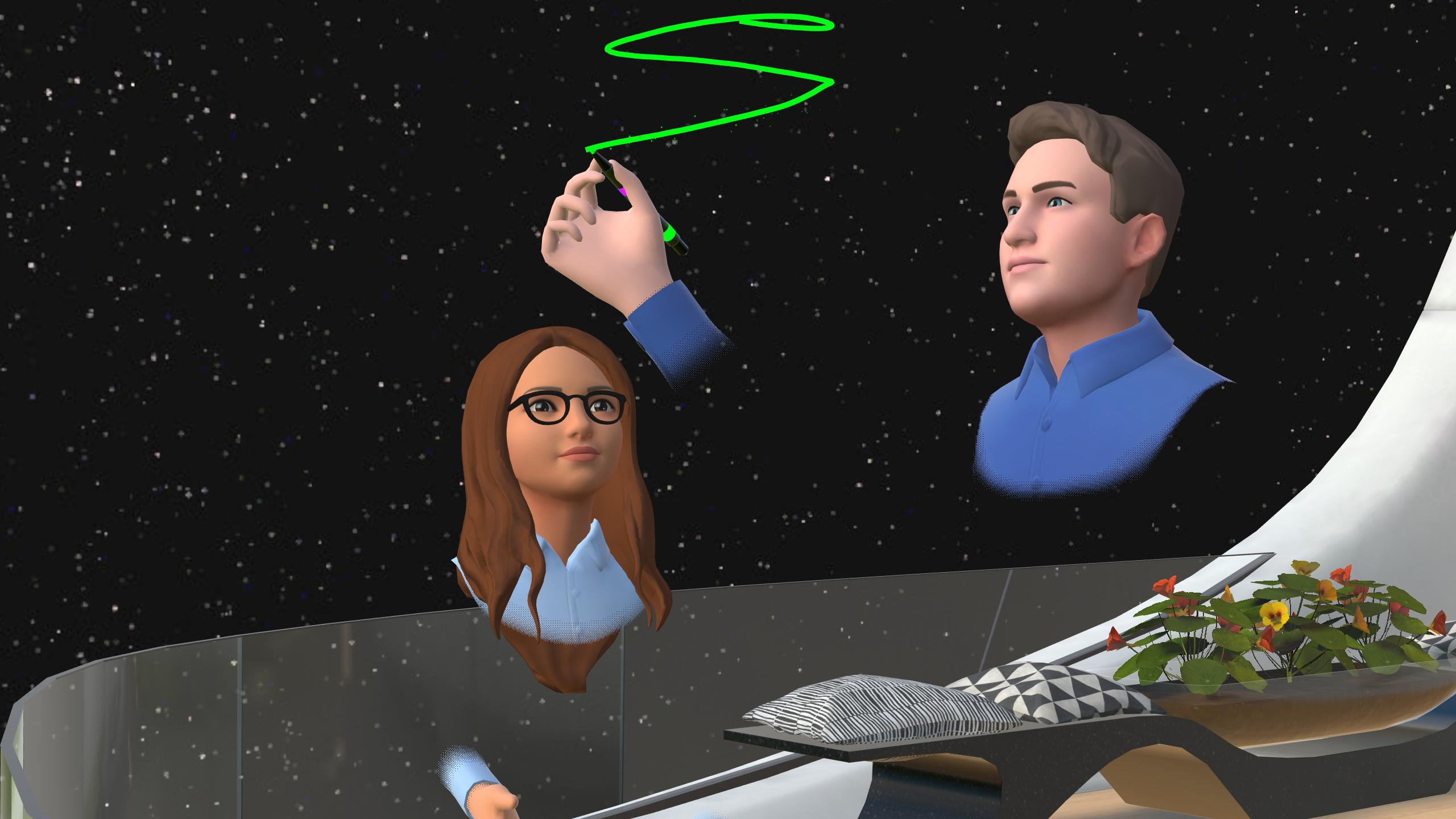 brainstorming in VR creative work